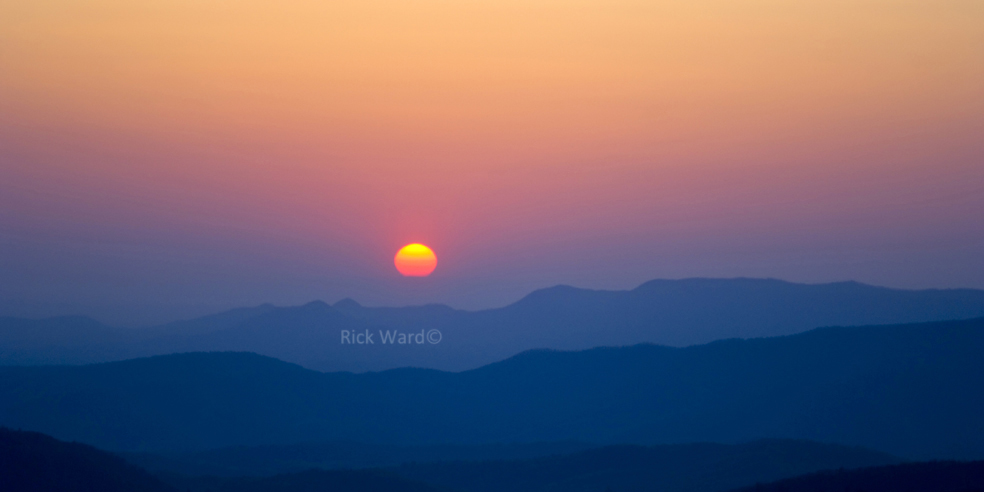 Max Patch Sunset 16 X 32 in.